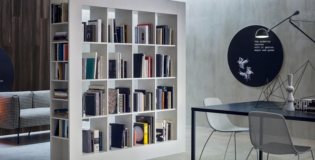 Libreria Moderna Arredamento.Pareti Attrezzate E Librerie Componibili Di Novamobili