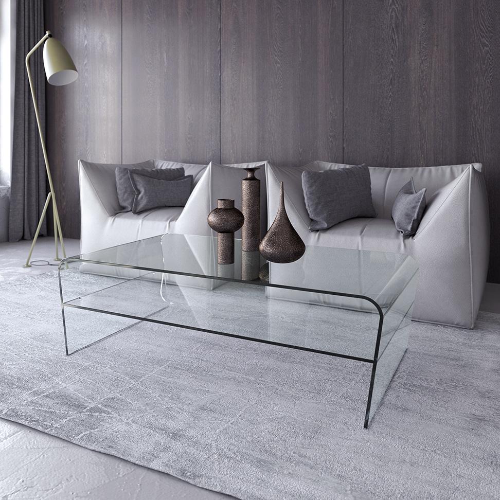 Tavoli tavolini e complementi d 39 arredo in vetro by victa for Tavolini vetro
