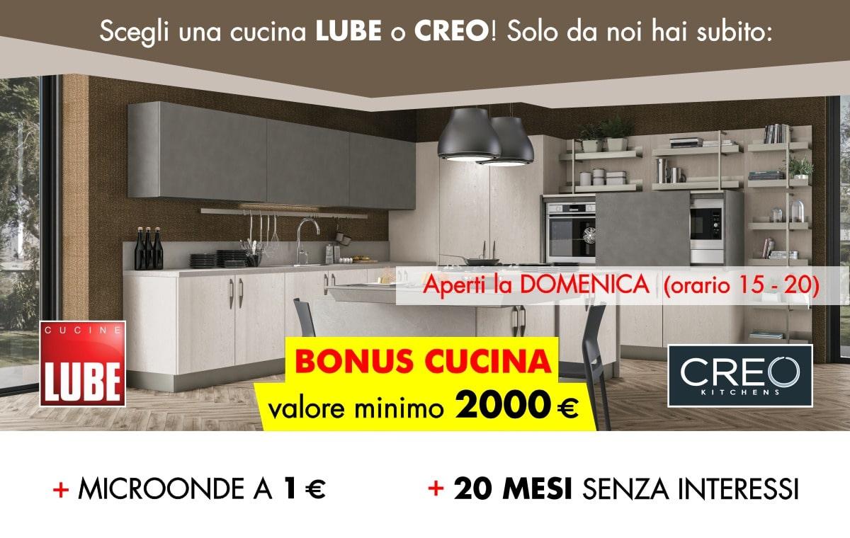 Bonus Cucina Da Minimo 2000 Con Lube E Creo Arredalcasa